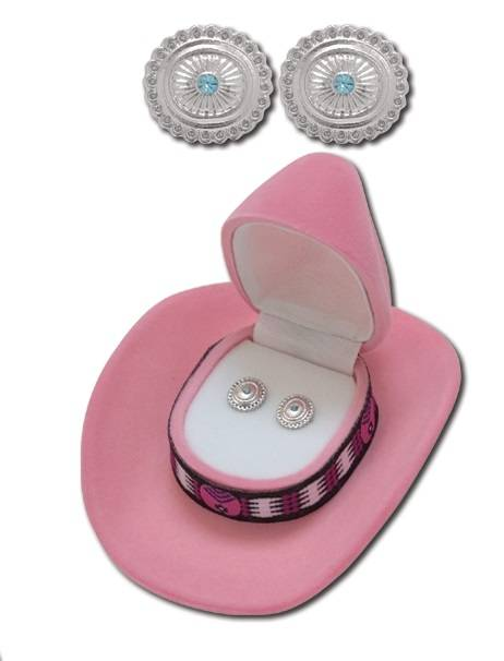 Round Concho Style Earrings
