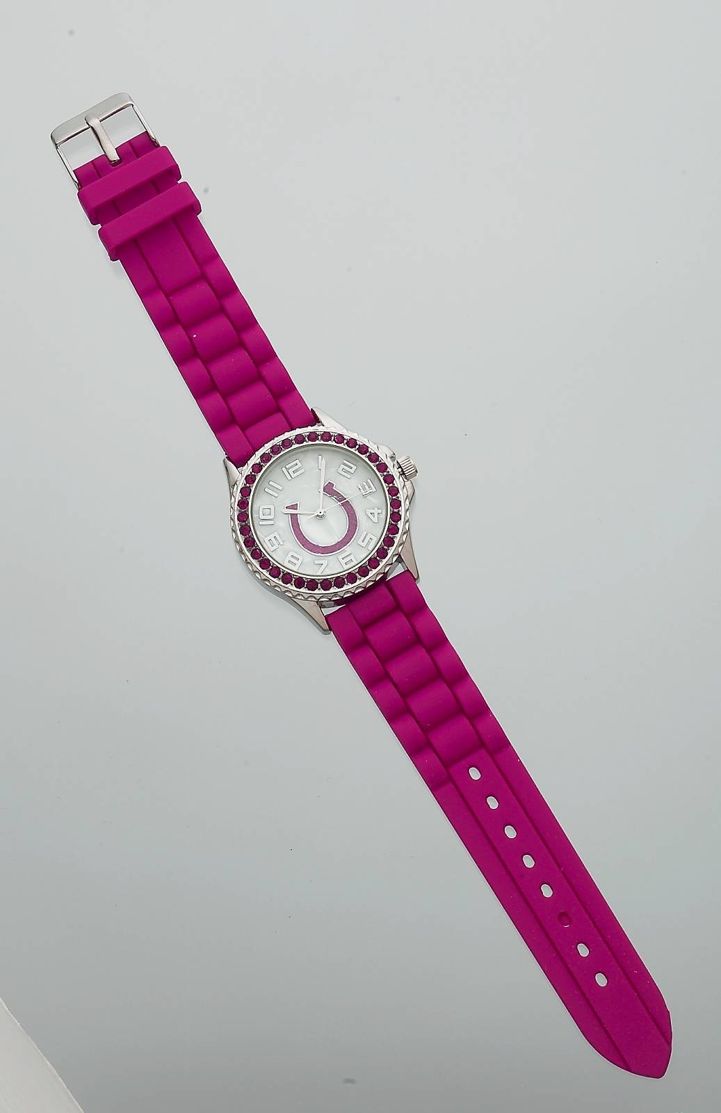Colorful Crystal Horseshoe Watch