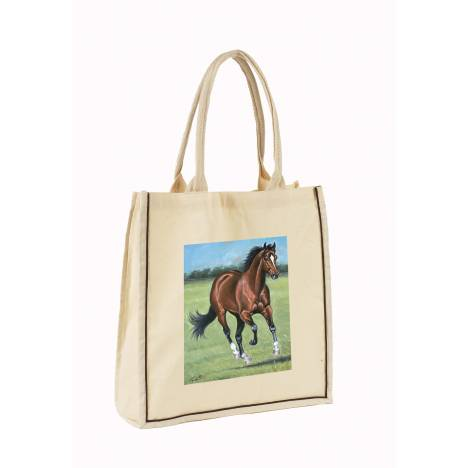 Lila Blakeslee Horse Print Lightweight Cotton Tote