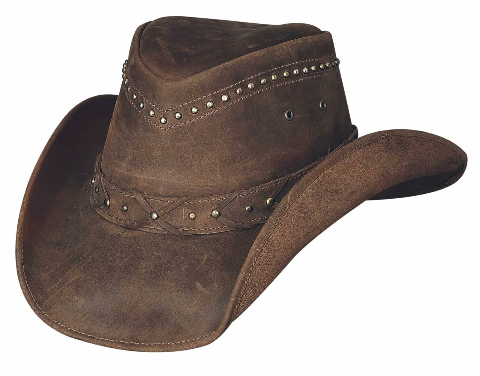 Bullhide Burnt Dust Down Under Leather Hat