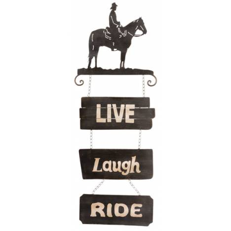 Gift Corral Cowboys Sign Live/Laugh/Ride