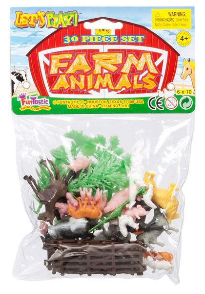 Gift Corral Farm Animals - 30 Piece Set