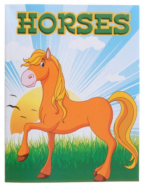 Gift Corral Coloring Book Horses