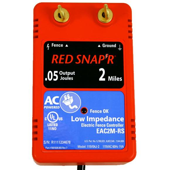 Red Snap'r 2 Mile Solid State Fence Charger