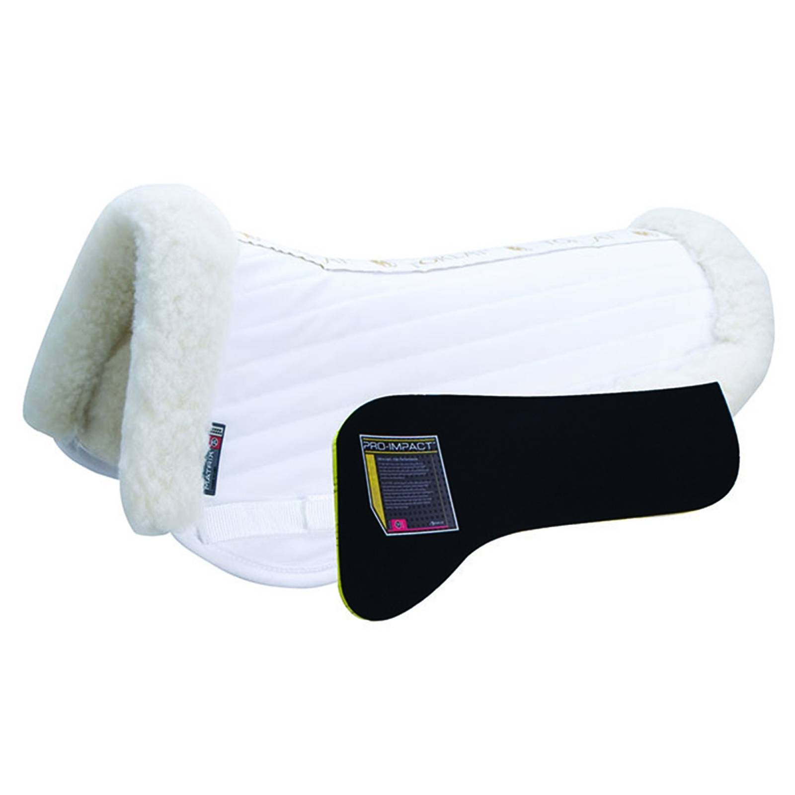 Matrix T3 Traditional Sheepskin Half Pad with Pro-Impact Inserts