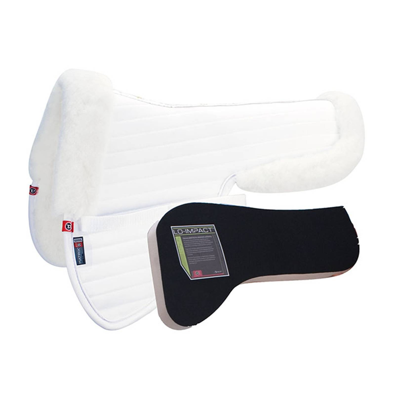 Matrix T3 Ergonomic CoolBack Half Pad with Lo-Impact Inserts