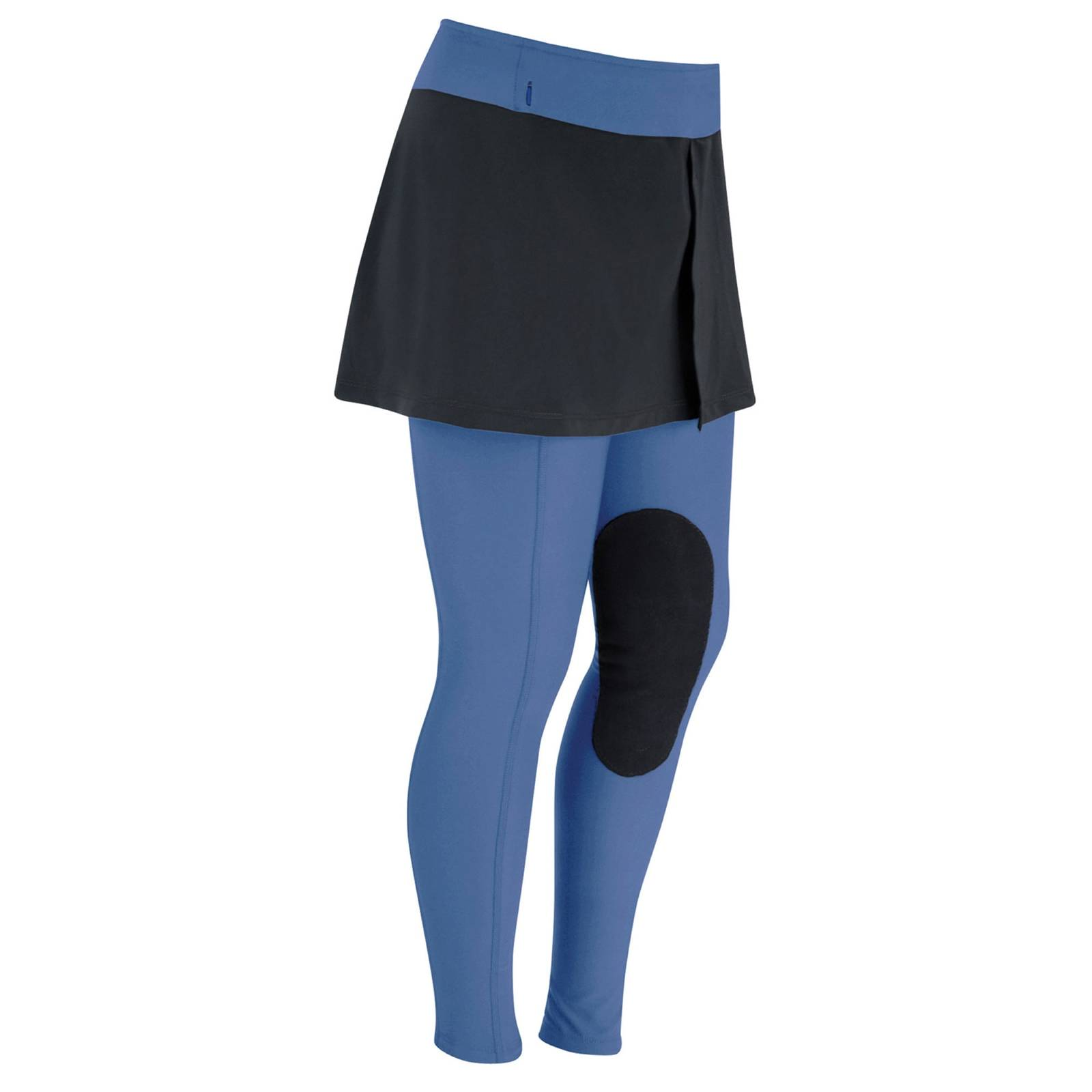 OPEN BOX - Irideon Kids' Issential Miniature Riding Tights - X-Small - Black/Purple