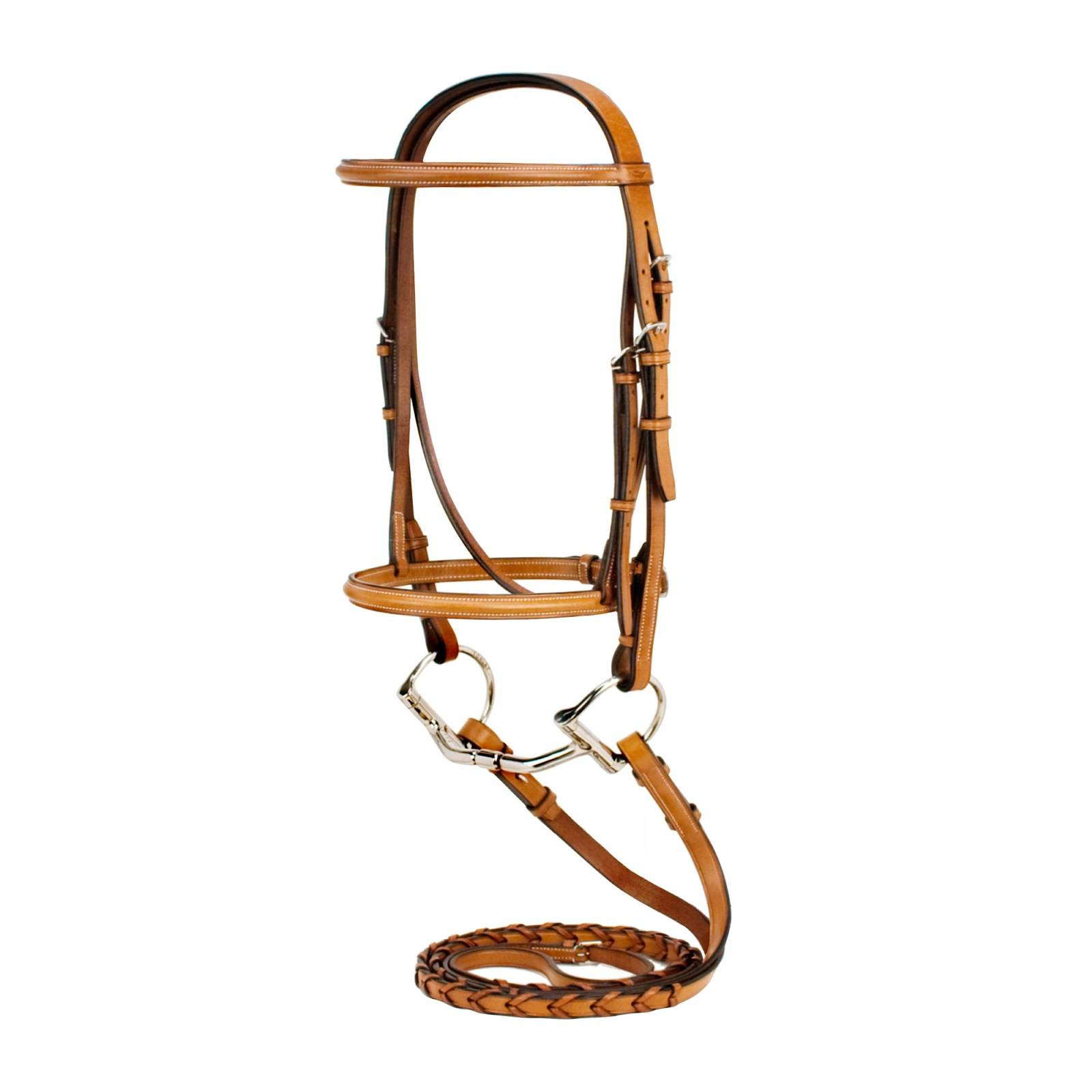 Toklat Silverleaf Plain Raised Snaffle Bridle with Matching Reins