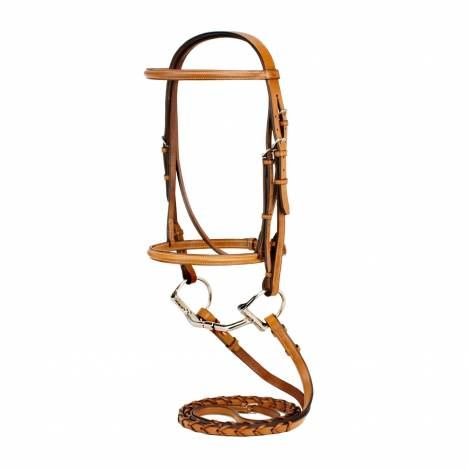 Toklat Silverleaf Plain Raised Snaffle Bridle with Reins