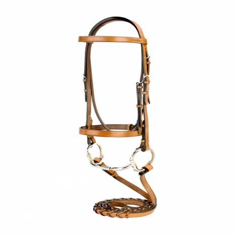 Toklat Silverleaf Snaffle Bridle with Matching Reins