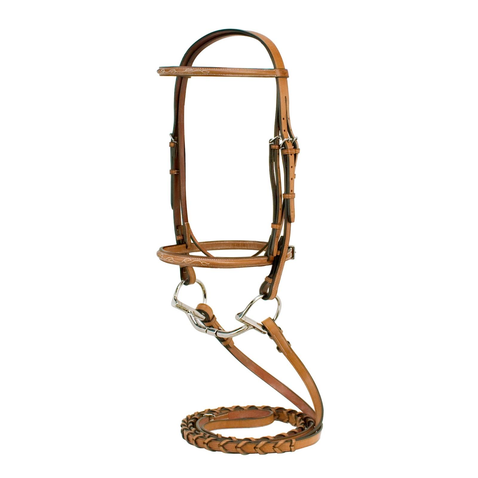 Toklat Silverleaf Fancy Raised Bridle with Matching Reins