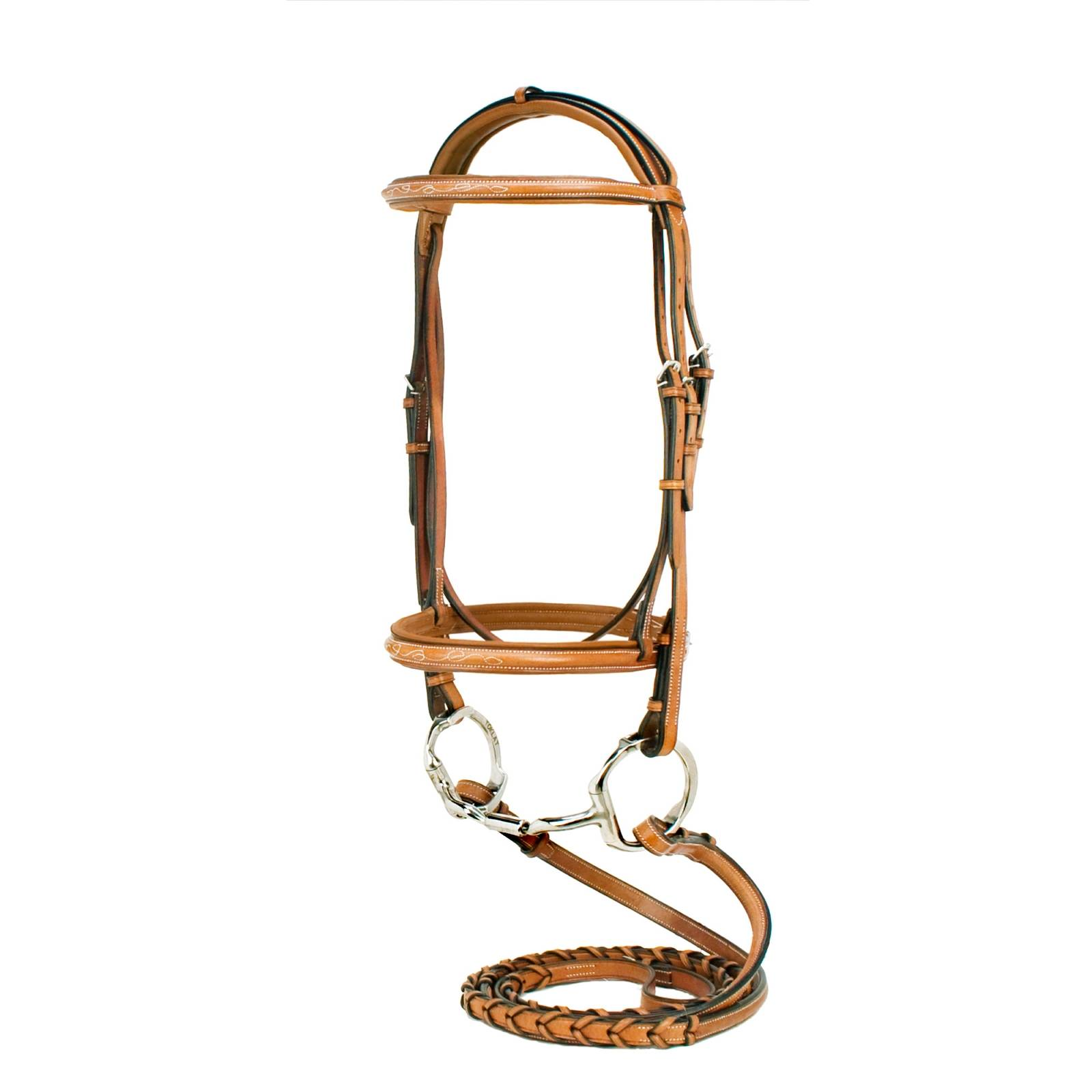 Toklat Silverleaf Fancy Raised Padded Bridle with Matching Reins