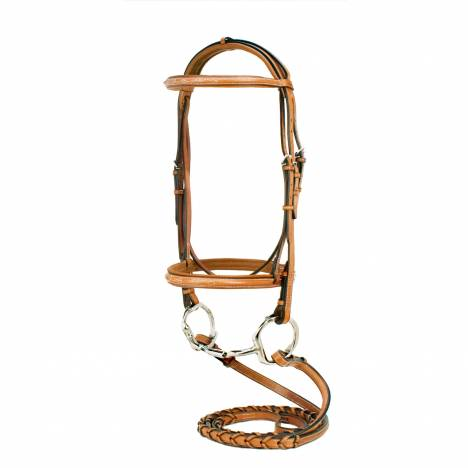 Toklat Silverleaf Fancy Raised Padded Bridle with Reins