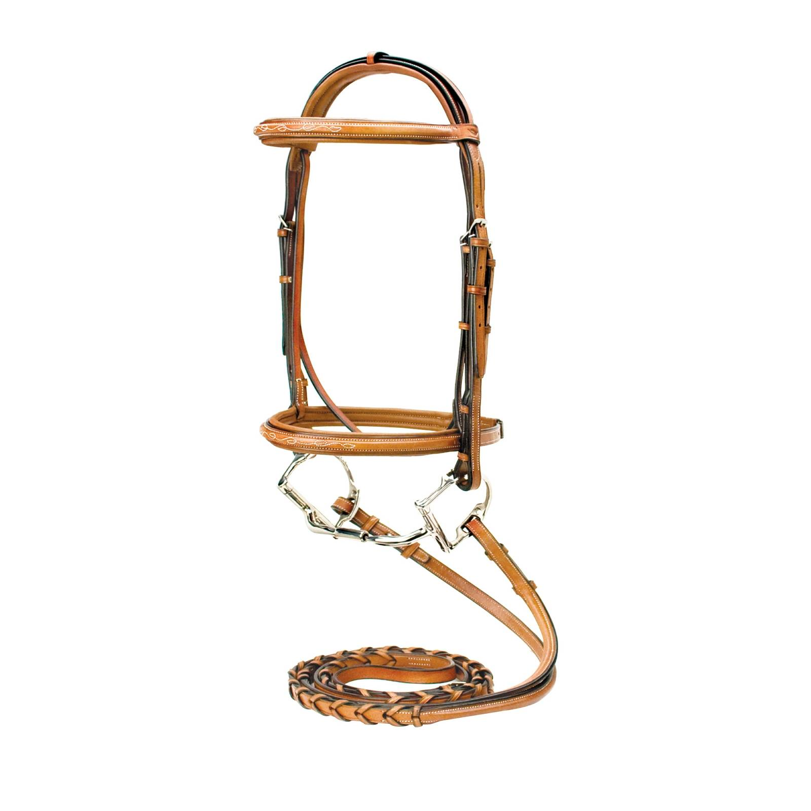 Toklat Silverleaf Fancy Square Raised Padded Bridle with Matching Reins