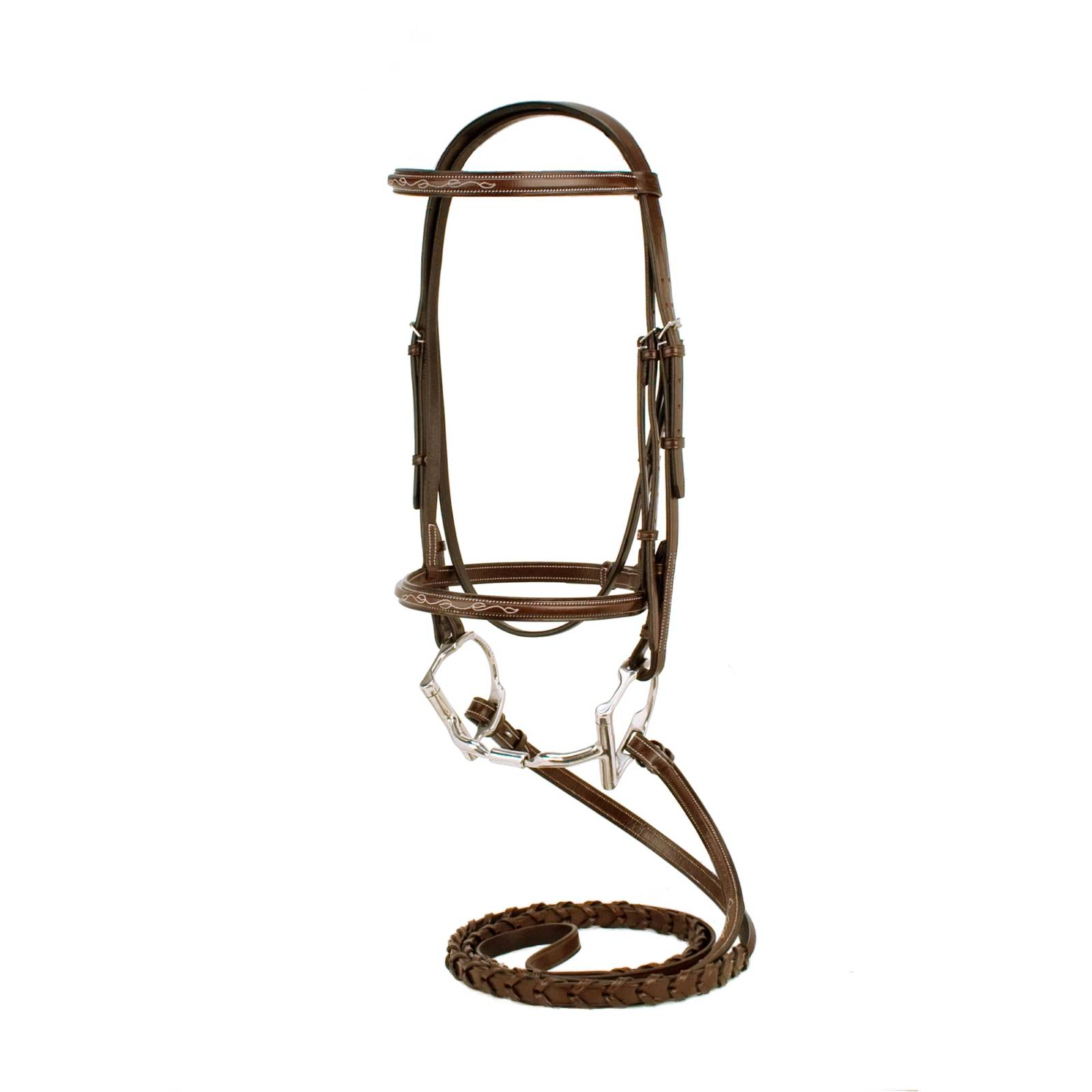 Toklat Silverleaf Fancy Sqare Raised Bridle with Matching Reins