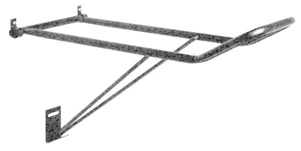 Tough-1 Collapsible Wall Saddle Rack in Hammered Finish