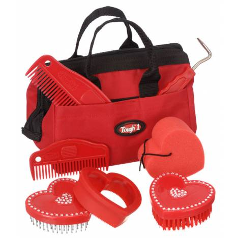 Tough-1 Crystal Heart Grooming Kit - 8 Piece