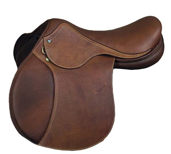 M. Toulouse Annice Printed Leather Close Contact Saddle