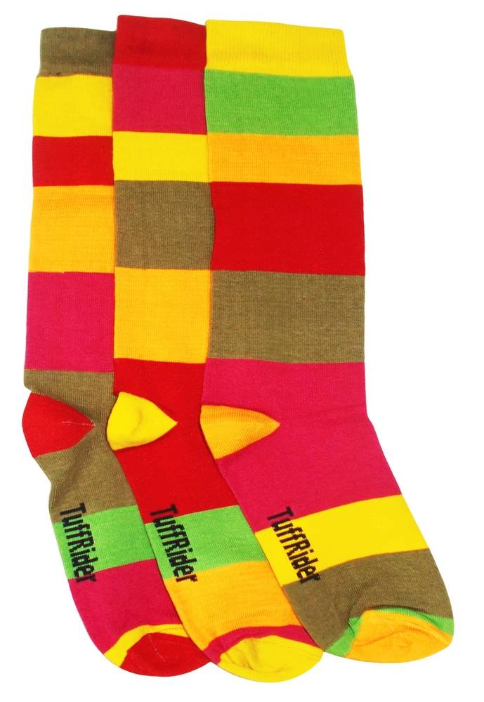 TuffRider Block Party 3 Pack Socks - Kids