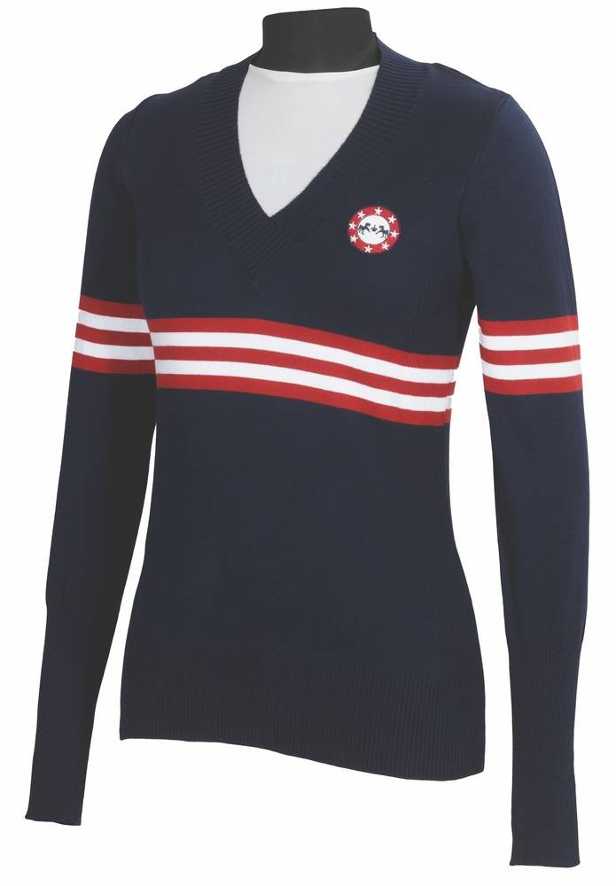Equine Couture Ladies' Slim Fit Stars & Stripes Sweater