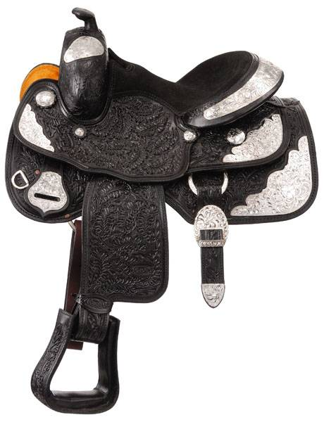 Silver Royal Premium Royal Oak Silver Show Saddle Package - Oak Leaf Tooling