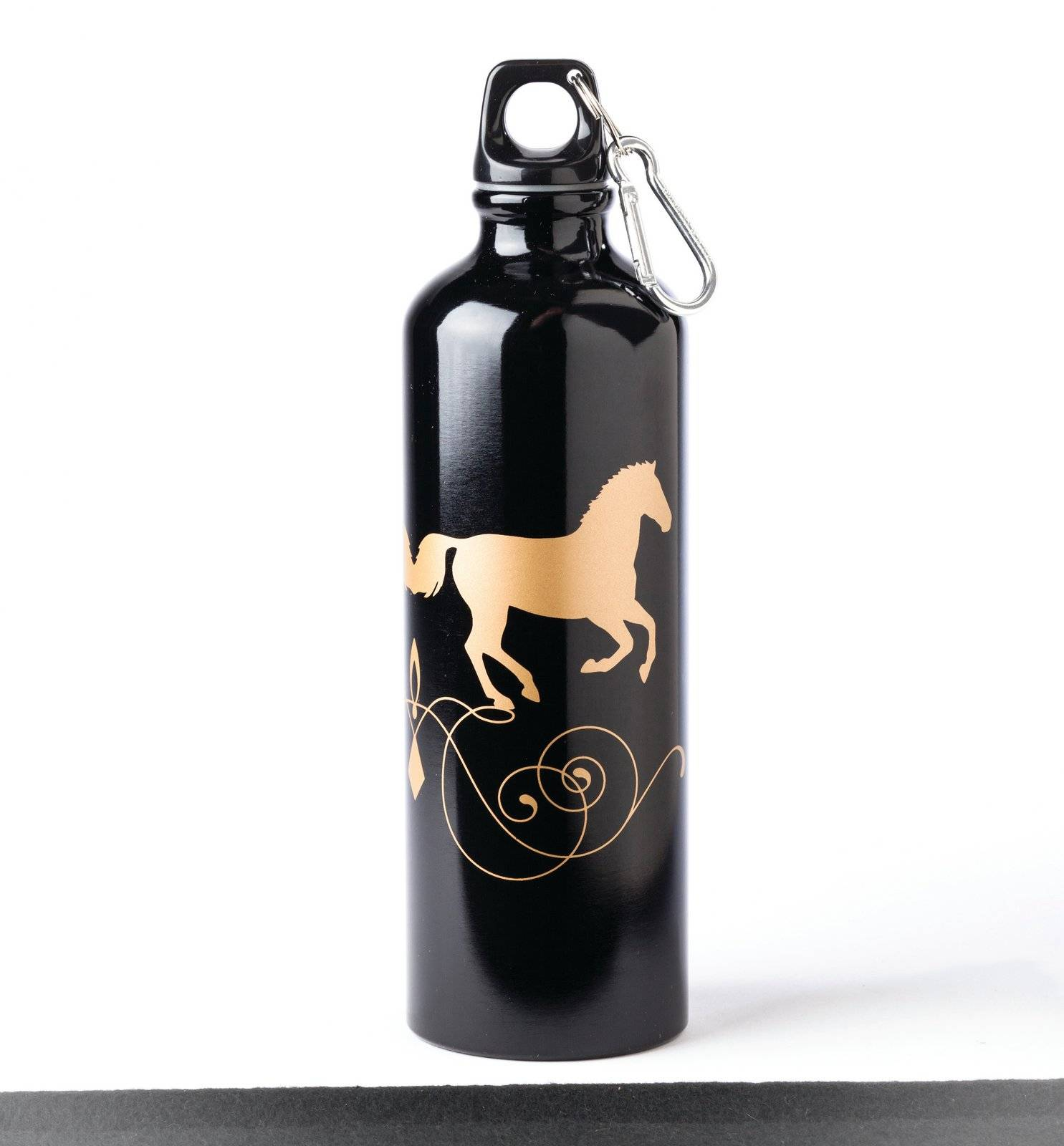 Aluminum Black and Gold Sports Bottle