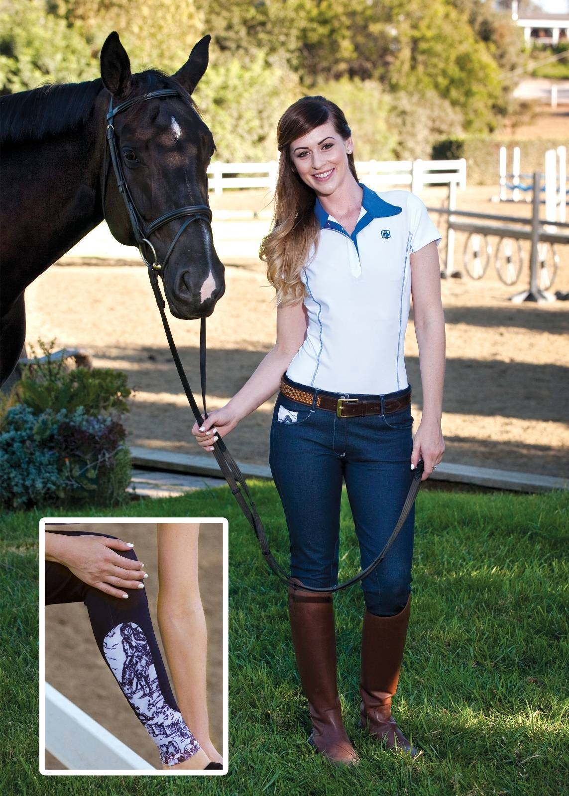 Romfh Provincial Print Knee Patch Breech