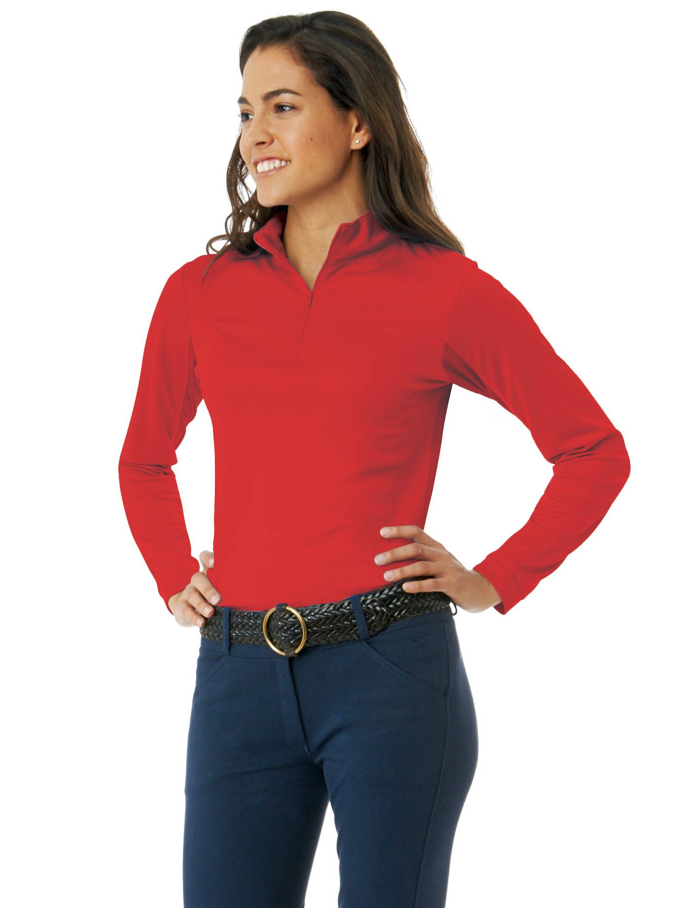 Ovation Ladies Cool-Rider Zip-Mock