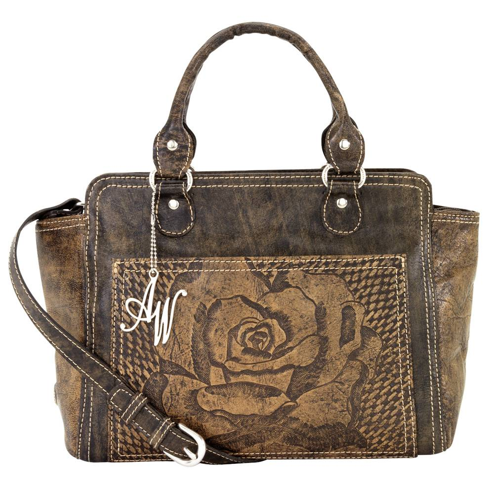 AMERICAN WEST Coming Up Roses Zip-Top Tote