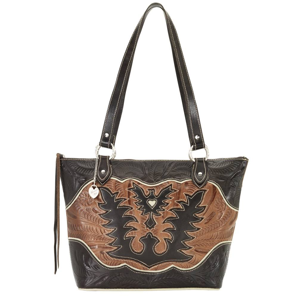AMERICAN WEST Eagle Heart Zip-Top Bucket Tote