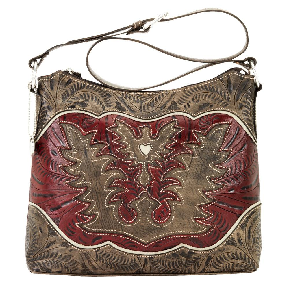 AMERICAN WEST Eagle Heart Zip Top Shoulder Bag