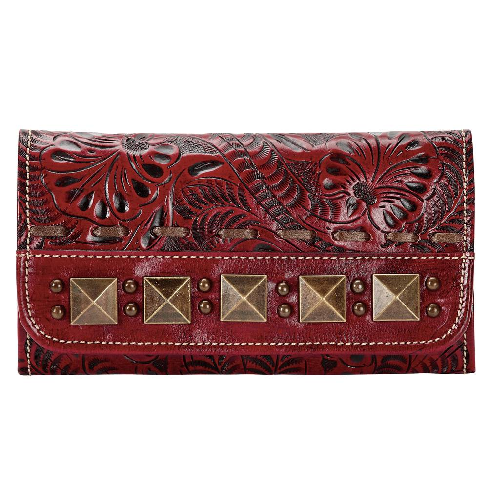 AMERICAN WEST Globe Trotter Ladies Tri-Fold Wallet