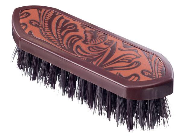 Tough-1 Printed Block Dandy Brush - Tooled Leather