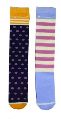 Horseware Ladies Spot/Stripe Sock 2Pk Mx