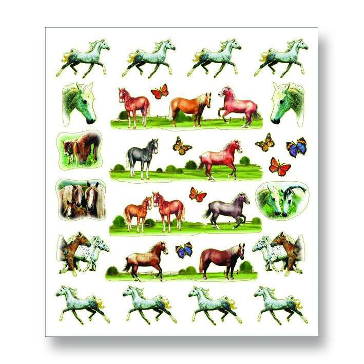 Horses & Butterflies Stickers