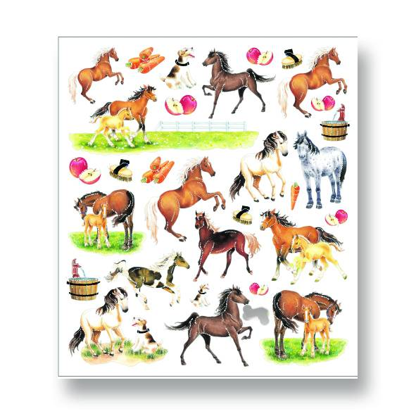 Horses & Apples Stickers