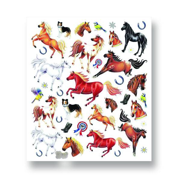 Horses & Ribbons Stickers