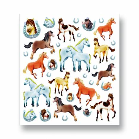 Glitter Horses & Horseshoes Stickers