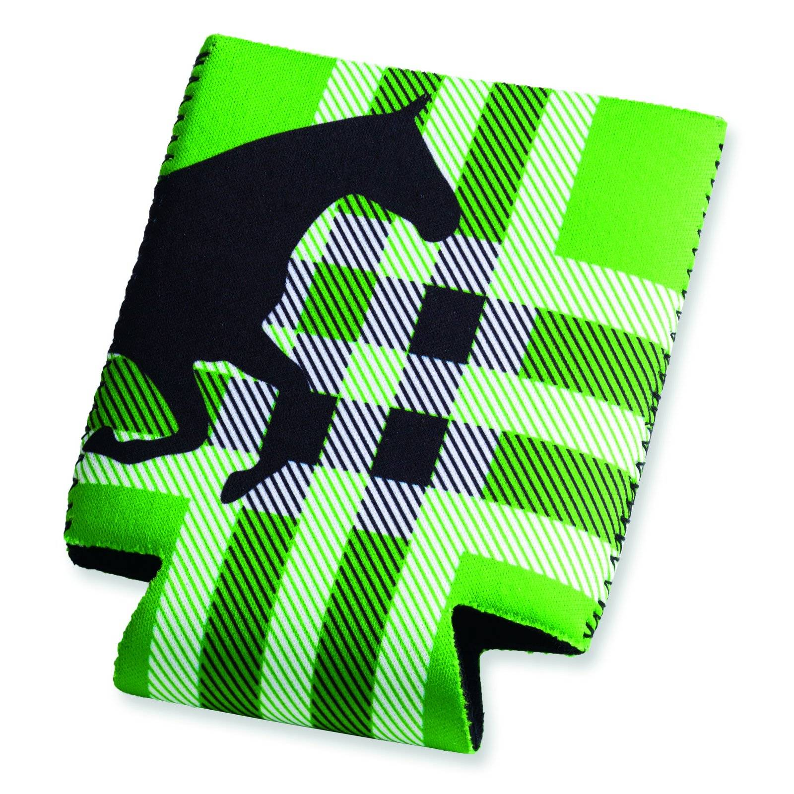 Tek Trek Neoprene Koozie Plaid
