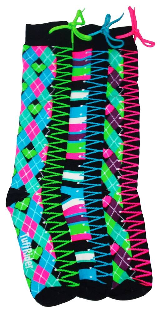 TuffRider Kick Start Kids Argyle Knee High 3 Pack Socks