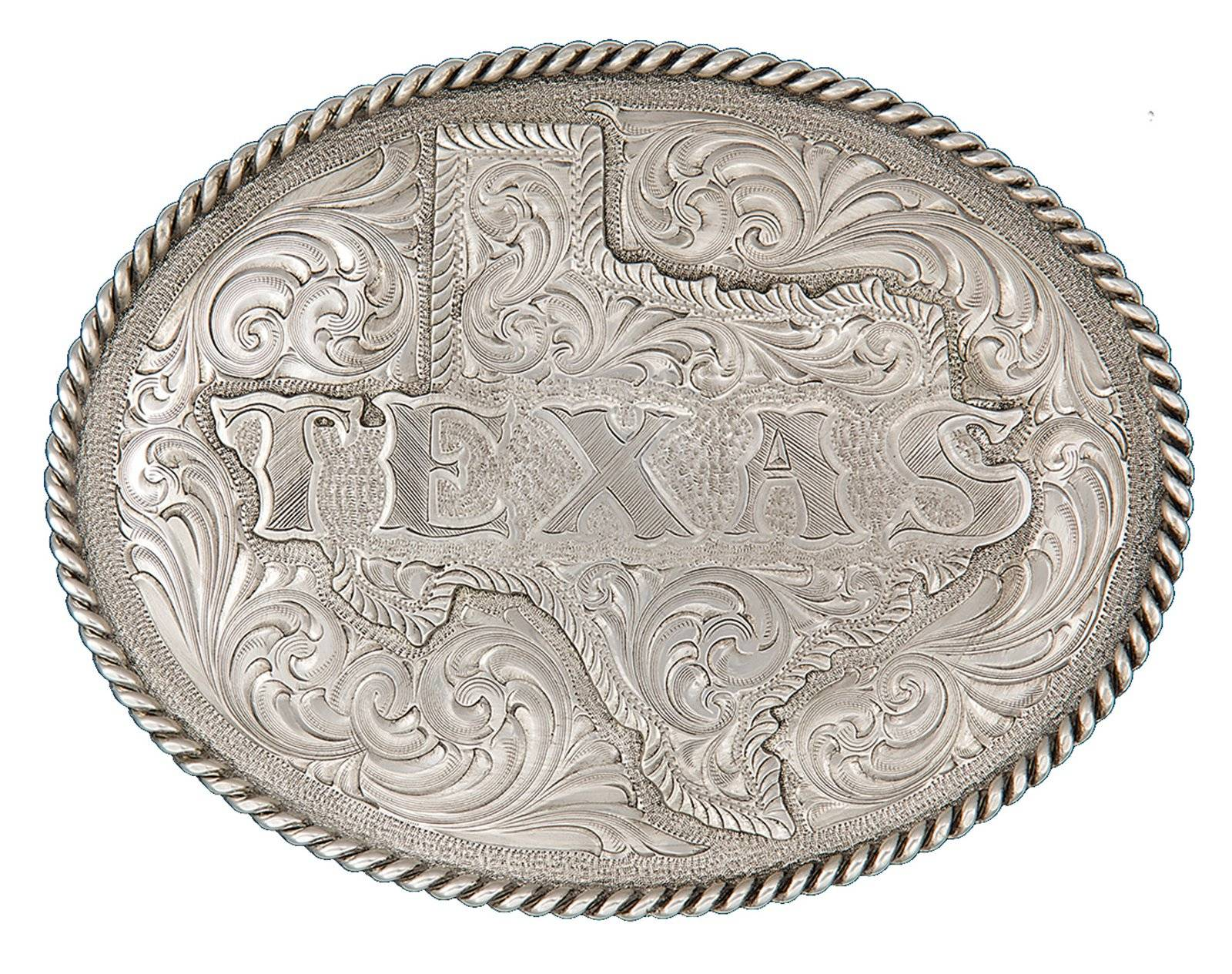 Montana Silversmiths All Texas Classic Engraved Belt Buckle