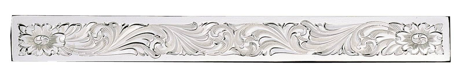 Montana Silversmiths Clear Edge Engraved Silver Brow Band Plate