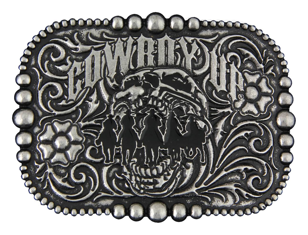 Montana Silversmiths Cowboy Up Posse Attitude Buckle