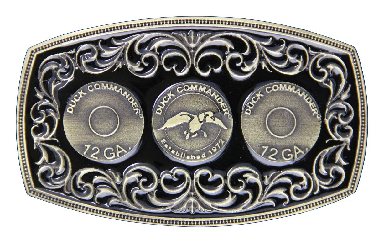 Montana Silversmiths Duck Commander 12 Gauge Triple Shot Attitude Buckle