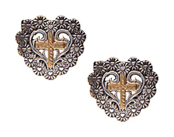 Montana Silversmiths Classics A Bouquet Of Love And Faith Earrings