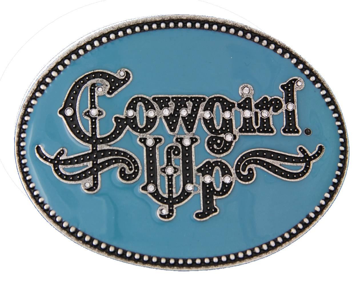 Montana Silversmiths Cowgirl Up Gothic Attitude Buckle