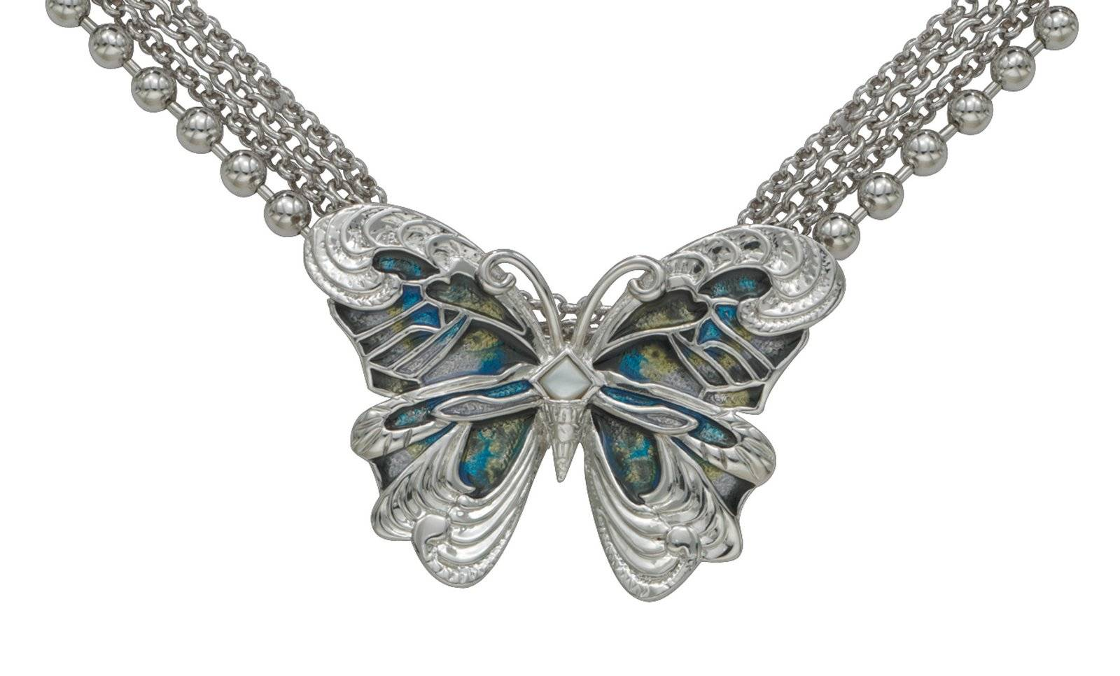 Montana Silversmiths Shimmer And Shine Butterfly Necklace
