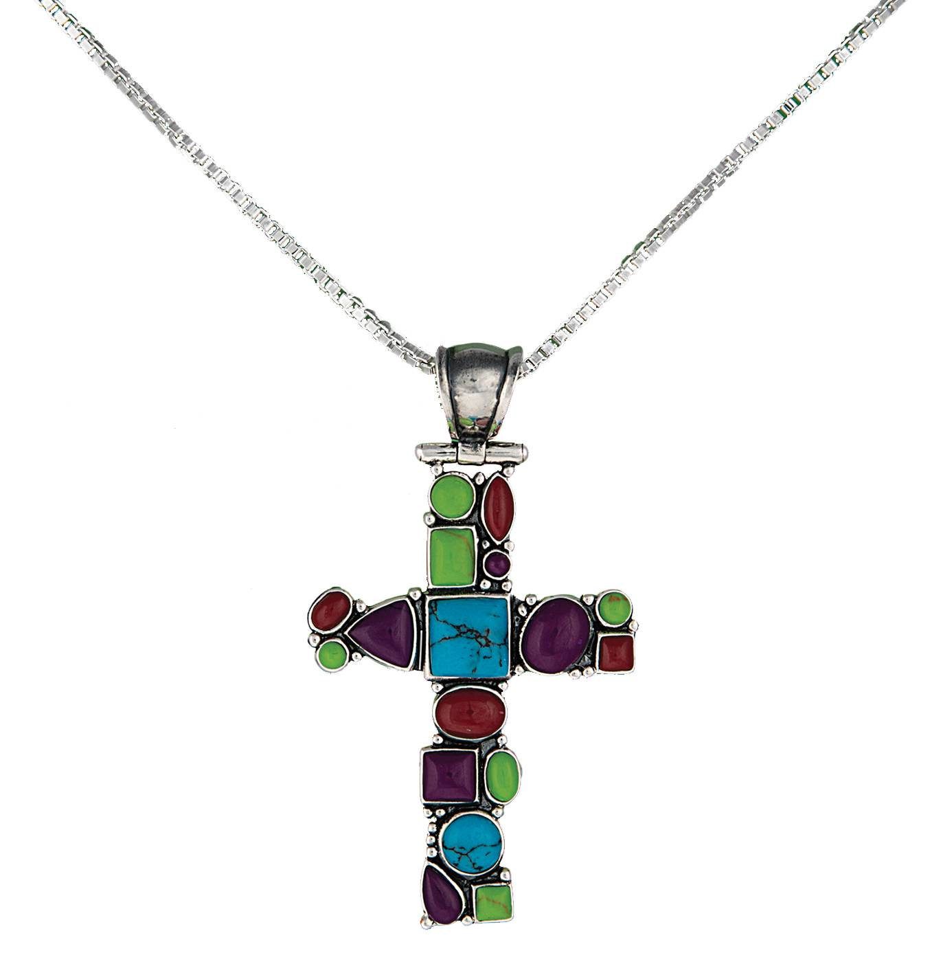 Montana Silversmiths Canyon Colors Cross Necklace