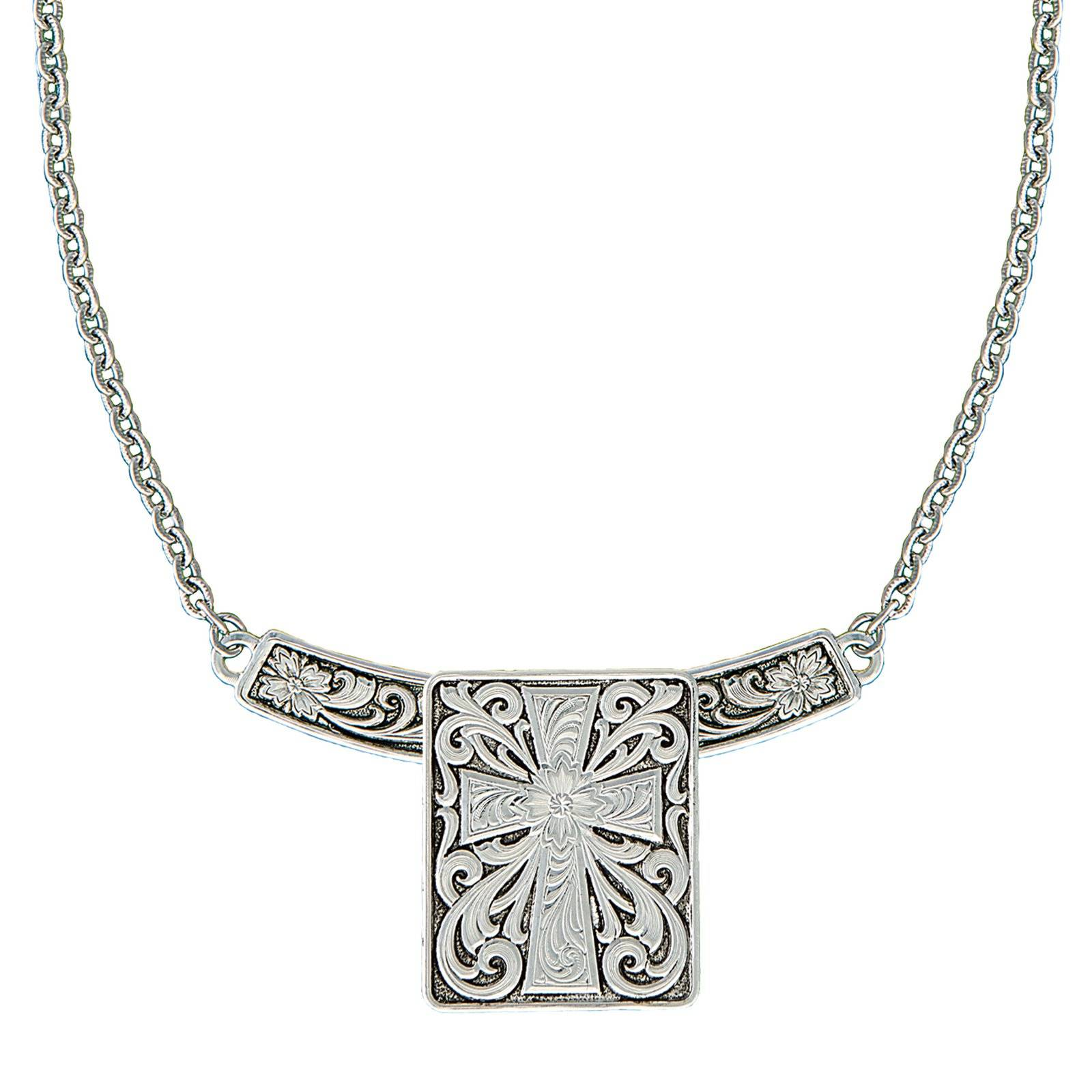 Montana Silversmiths Western Deco Three-In-One Cross Bar Necklace