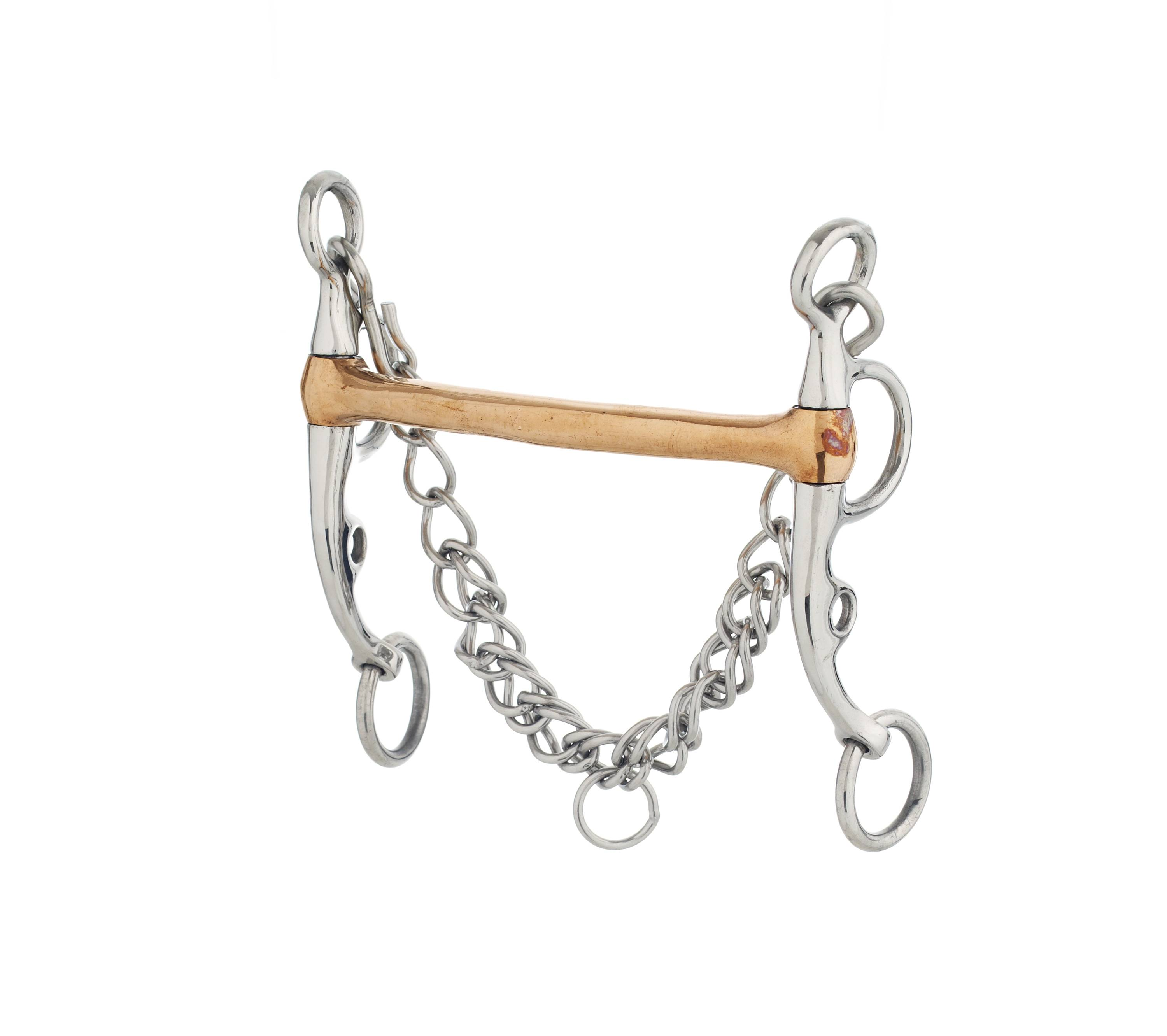Turn-Two Equine Stainless Steel Copper Mullen Argentine Bit